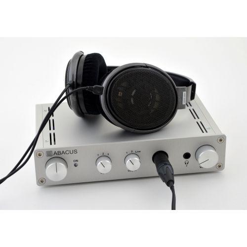 Cuffino - Kopfhörerverstärker - Anwendungsbeispiel mit Sennheiser HD650, umgebaut auf symmetrischen Anschluss