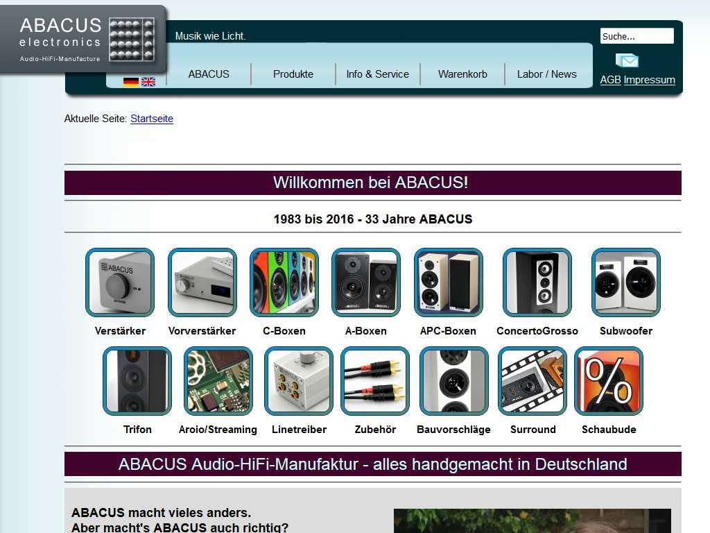 ABACUS Website bis Dezember 2016