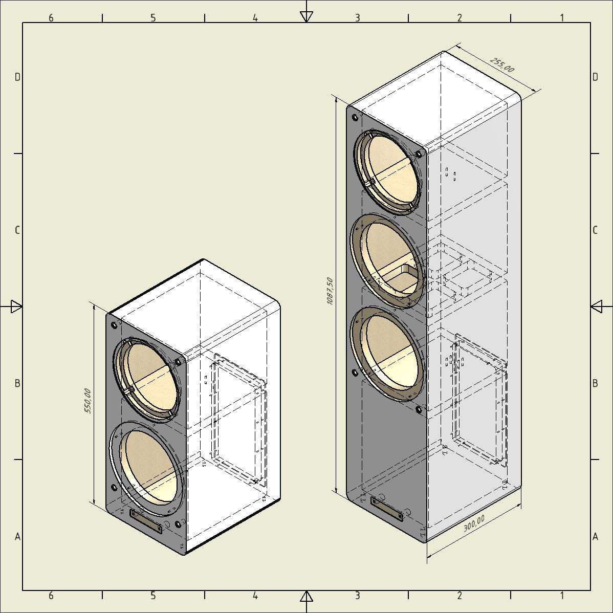 ABACUS M-Box Stand und Compact Abmessungen