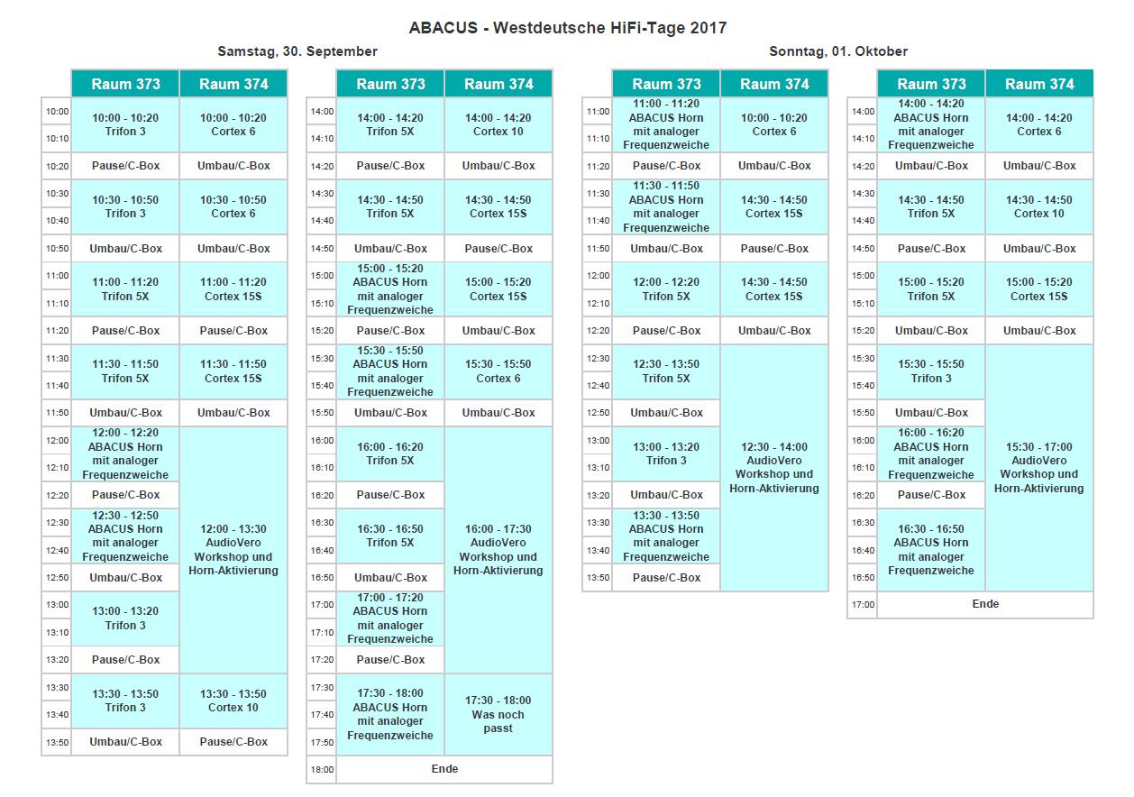 ABACUS Programm WDH 2017
