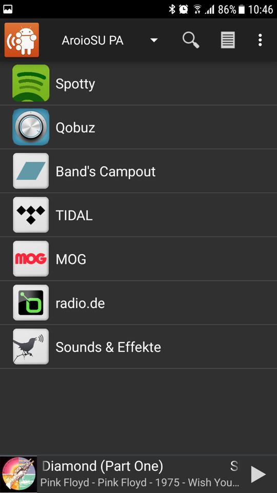 "App ""Squeezer"" auf Android-Handy"