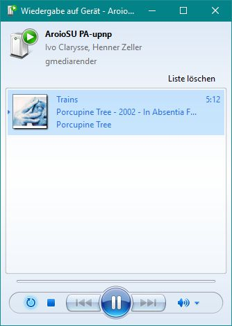 Windows 10 - Ausgabe auf UPNP-Gerät