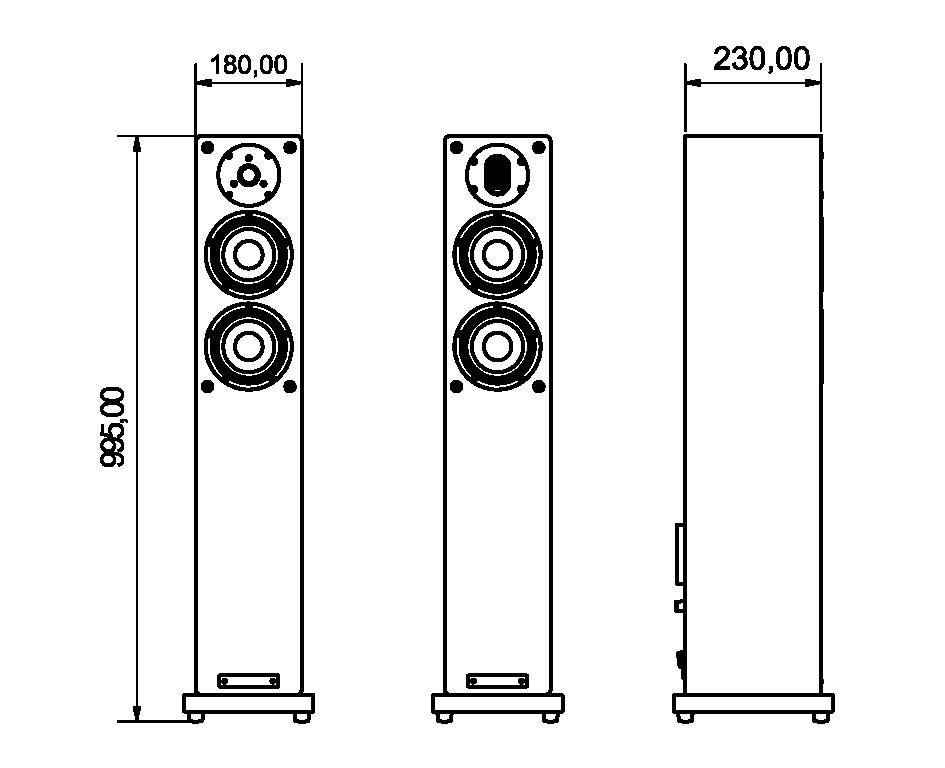 A-Box 12S Abmessungen in mm