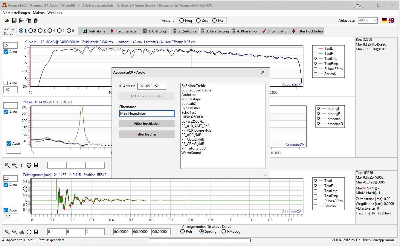 AcourateCV - Filter auf Streamer hochladen
