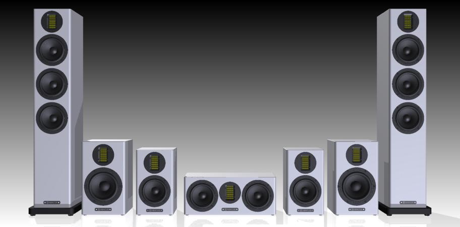 Cortex-Serie - v.l.n.r. Cortex 15S, 6, 10 und 9C Center