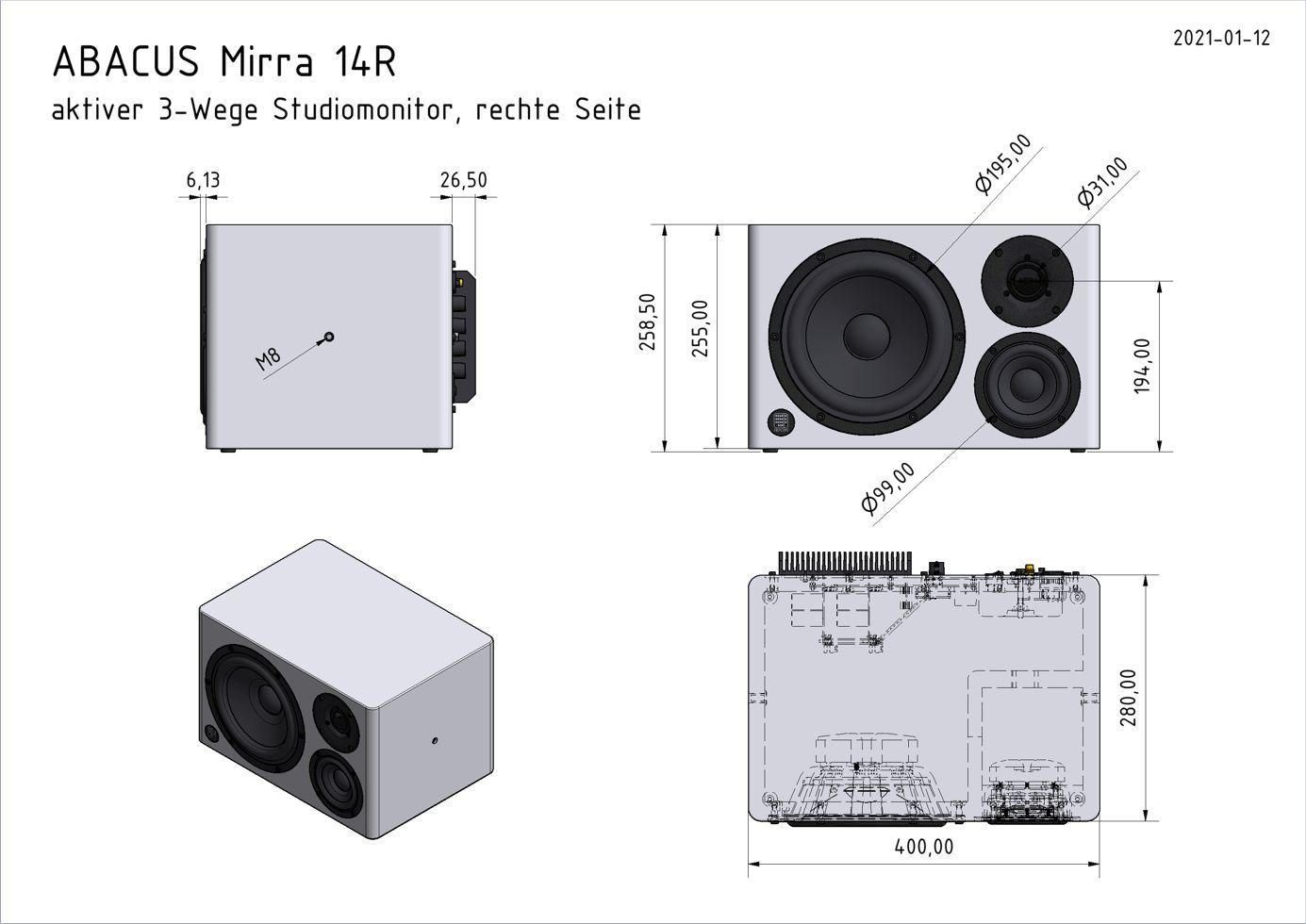 Mirra 14R - Abmessungen