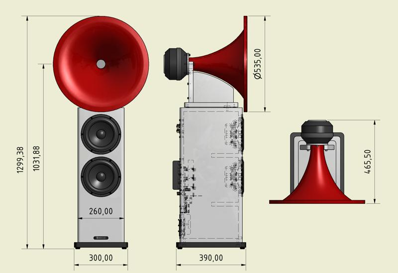 Hornsystem - Abmessungen
