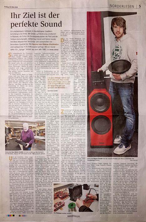 Kreiszeitung Wesermarsch über ABACUS